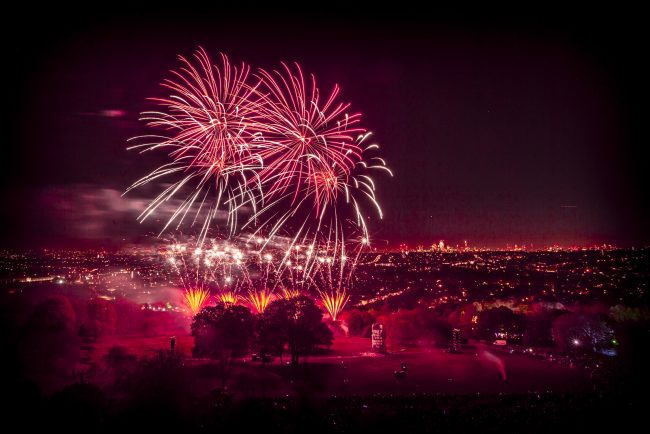 Alexandra Palace Fireworks Display 2019