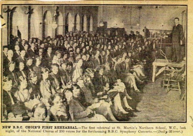 BBC. National Choir, 1928