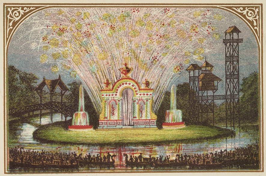 A drawing by Owen James, who came up with the original concept of Alexandra Palace