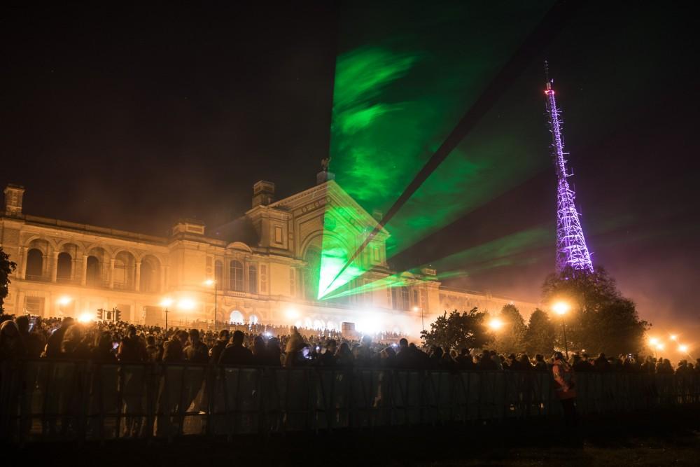 Laser show at the 2016 Fireworks Festival