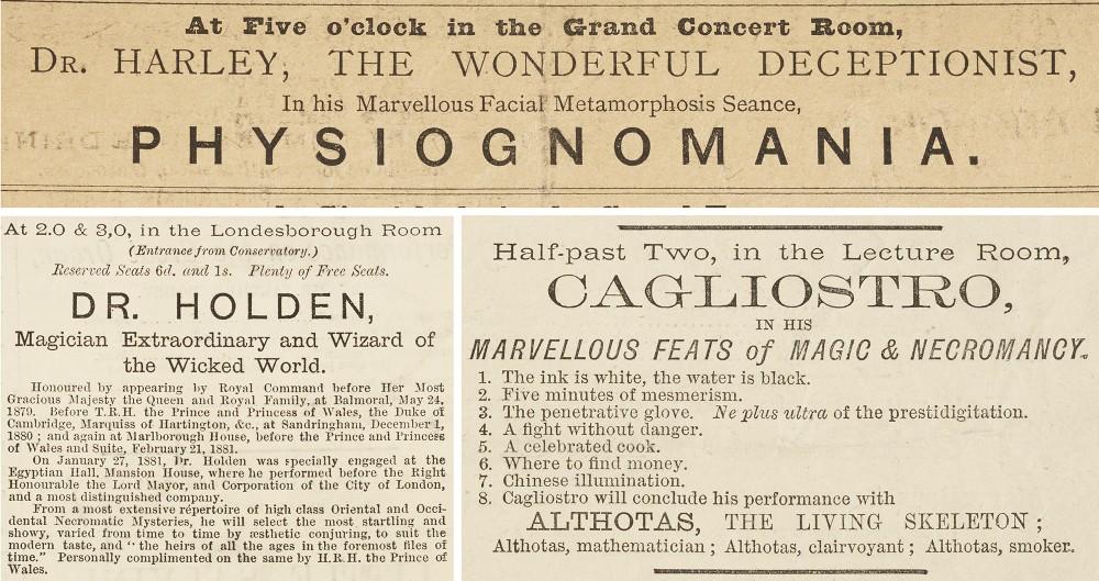 Alexandra Palace Programme ads, 19th Century