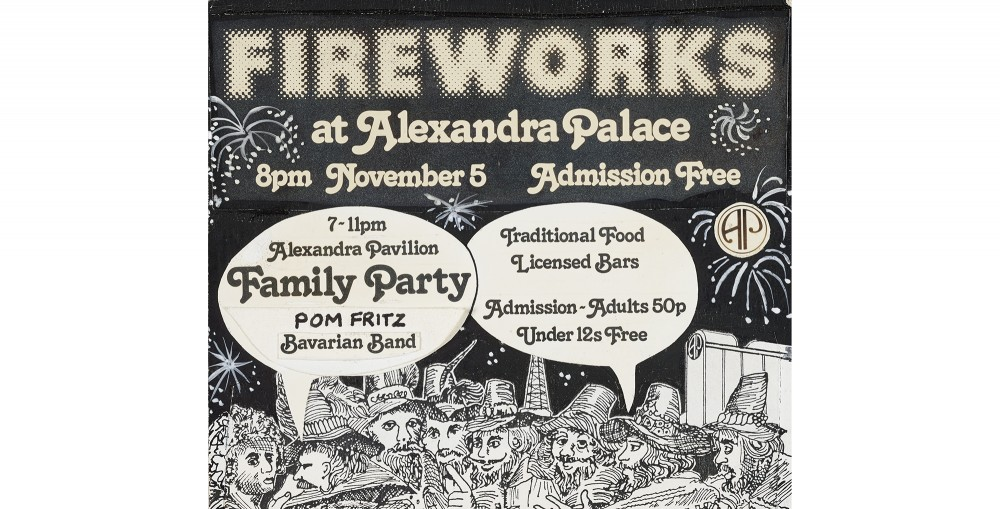 Ticket for Alexandra Palace Fireworks, 1984